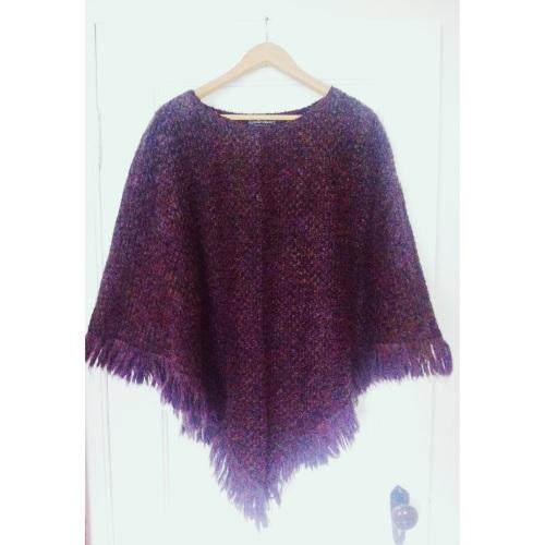 Purple Fuzzy Poncho // $6.00