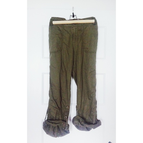 army green cargo pant // $3.99